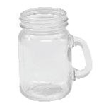 Tablecraft FLBEER4 - Mason Jar Glasses (4.5 oz.)