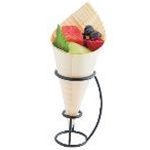 Tablecraft DCH01 - Disposable Cone Holder (Black Powder Coated) - (4\