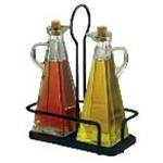 Tablecraft 617NBK - Marbella Oil & Vinegar 3 Pc. Set