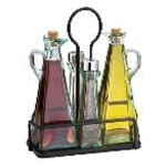Tablecraft 61517NBK - Marbella Oil & Vinegar/Salt & Pepper 5 Pc. Set