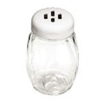 Tablecraft P260SLWH - Plastic Shaker w/ Slotted Plastic Top - White- 6 Oz.