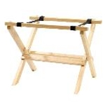 Tablecraft RTT21N - Mini Table Tray Stand - Natural Finish - 9 1/4\