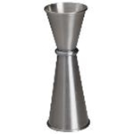 Winco J-6 - Japanese-Style Jigger - Stainless Steel - 1/2 Oz. x 3/4 Oz.