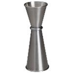 Winco J-8 - Japanese-Style Jigger - Stainless Steel - 1 Oz. x 1 1/4 Oz.