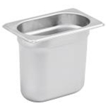Winco SPJH-906GN - Steam Table Pan - Stainless Steel - 1/9th Size