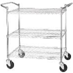 Winco VCCD-1836B - 3-Tier Wire Shelving Cart - 18\