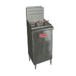 Entree F4-N-C - N.G.  Fryer 50 lb. Oil Capacity - 120,000 BTUs - Includes Casters (1 Year Parts/Labor Warranty)