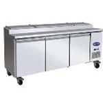 Entree P94 - 3 Door Pizza Prep Refrigerator - Side Mount - (94\