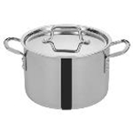Winco TGSP-6 - Stock Pot w/ Cover (6 Qt.) - Tri-Ply