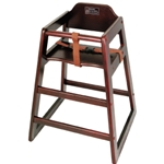 High Chair Wood Dark