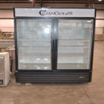 Used True GDM-49F-LD 2 Door Glass Freezer (s/n 7119457)