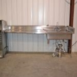 Used 12\\'\\' S/S table w/ 2 Compartment Sink & 1 hp Disposal