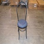Used Chair  Ice Cream Parlor  Blue Seat  Black Frame