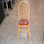 Used Wooden Captain Chair  Natural