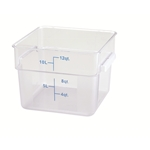 Container Square Clear 12 Qt