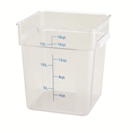 Container Square Clear 18 Qt