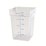 Container Square Clear 22 Qt