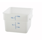 Container Square White 12 Qt