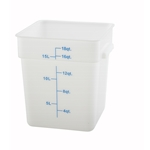 Container Square White 18 Qt