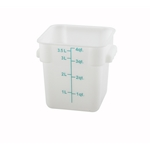 Container Square White 4 Qt