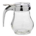Royal ROY SD 14 Dripcut Glass Syrup Dispenser 14 oz.