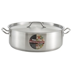 Brazier Pan 25 Qt S/S With Lid