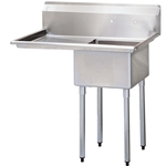 One Compartment Sink with Left hand Drainboard, 18\