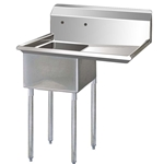 One Compartment Sink with Right hand Drainboard, 18\