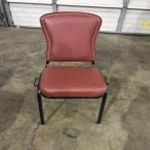 Used Chair with Burgundy 2\