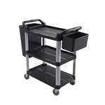Dish Cart Black 40 X 20 X 37