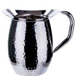 Winco WPB-2H 2 Qt. Bell Pitcher S/S Hammered