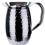 Winco WPB-3H 3 Qt. Bell Pitcher S/S Hammered