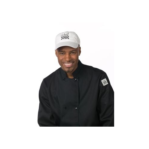 Chef's White Baseball Hat, Adjustable strap