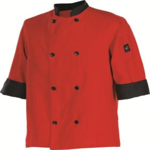San Jamar J134TM-M Chef's Jacket 3/4 Sleeves Medium