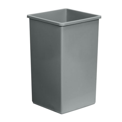 Continental 25GY Trash Can 25 Gal Gray Square