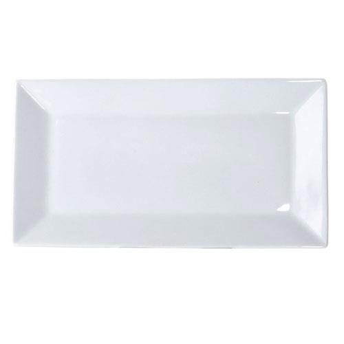 CAC KSE-13 Bright White Rectangular Platter 11-1/2