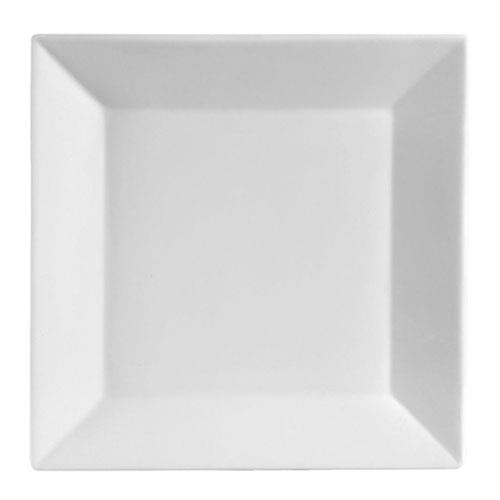 CAC KSE-21 Bright White Square Plate 12
