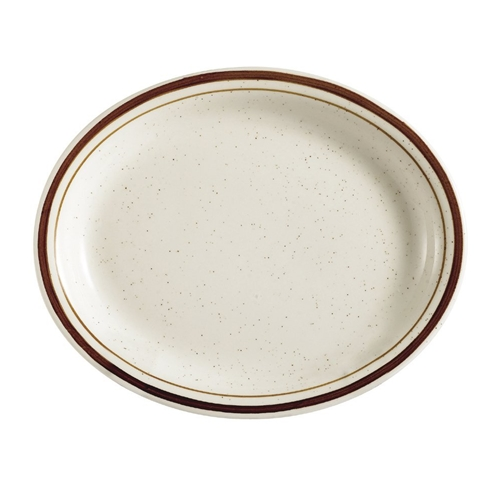 Brown Speckle Dune Platter, 11-1/2