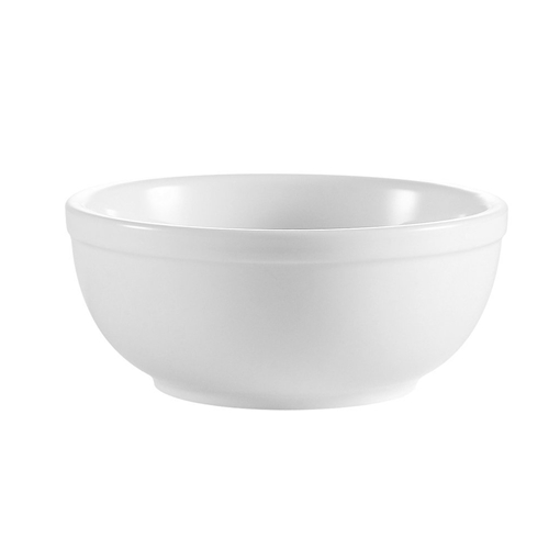 Bright White Nappie Bowl, 15 oz.