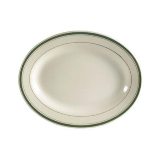 CAC China GS-14 Green Brier Platter, 12-1/2