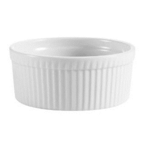 CAC RKF-6  6 oz. China Ramekin Ribbed White