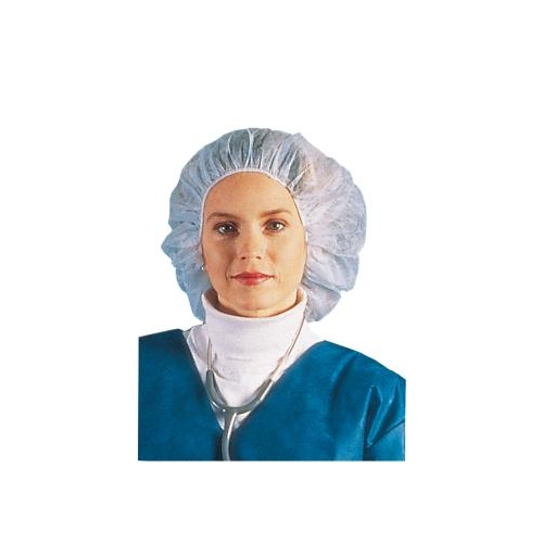 Disposable White Bouffant Cap, 21