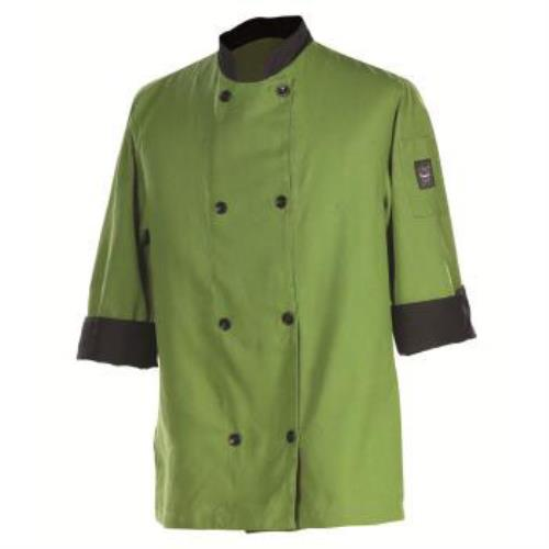 Chef Revival J134MT-M Mint/Black Trim Chef's Jacket 3/4 Sleeves Medium