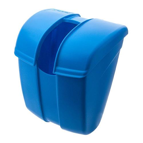 San Jamar SI2000 Saf-T-Ice® Scoop Caddy Up to 86 Ounces Self-Closing Hinged Lid Dishwasher Safe Blue