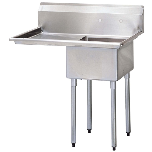 One Compartment Sink with Left hand Drainboard, 18