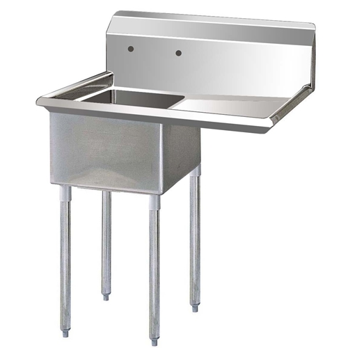 One Compartment Sink with Right hand Drainboard, 18