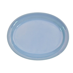 CAC China L-13NR-LB Blue Platter 11 1/2