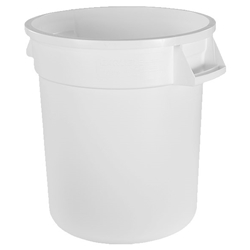 Trash 32 Gal White