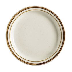 Brown Speckle Dune Plate, 6-1/2