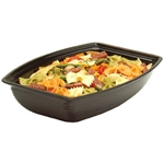 Black Ribbed Rectangular Bowl, 12 qt.